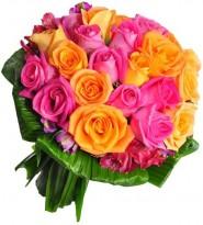 Buque de Rosas Coloridas Simpatico