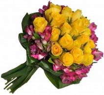 Buquê Rosas Amarela Especial