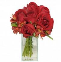 Vidrinho De Rosas Vermelhas